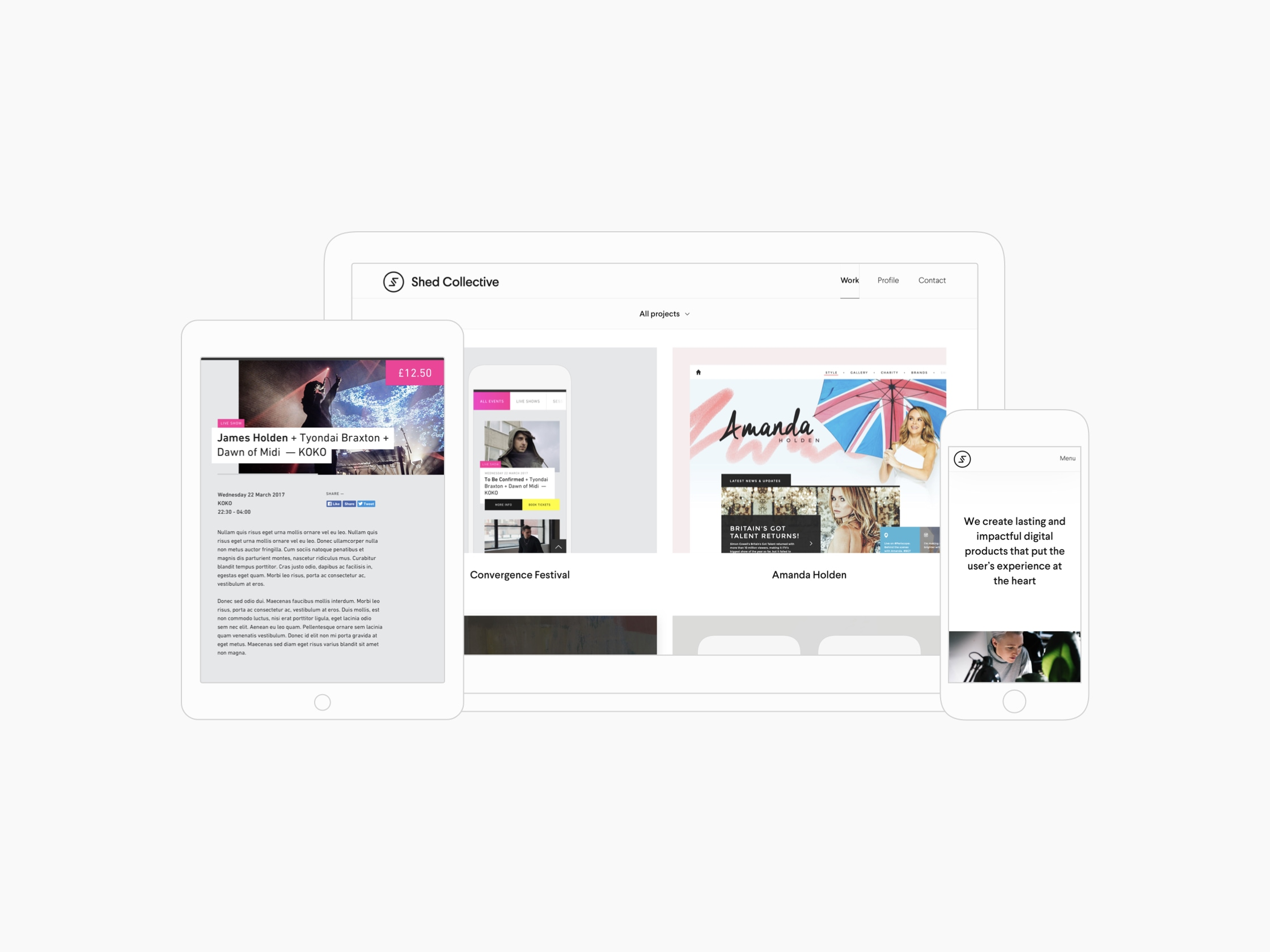 Shed Collective responsive website